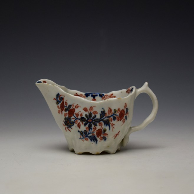 Lowestoft Imari Floral Pattern Low Chelsea Ewer c1775-85 (1)