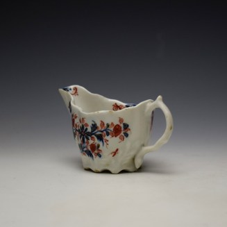 Lowestoft Imari Floral Pattern Low Chelsea Ewer c1775-85 (6)