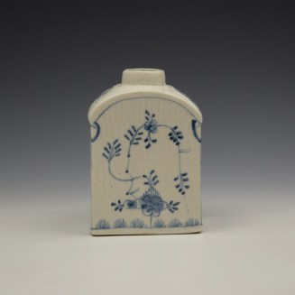 Lowestoft Imortelle Pattern Tea Canister c1770-75 (3)