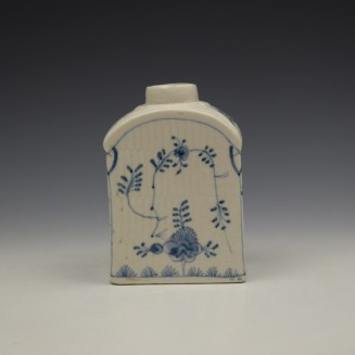 Lowestoft Imortelle Pattern Tea Canister c1770-75 (5)