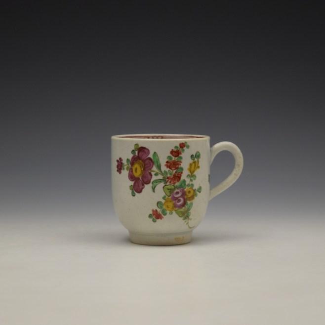 Liverpool John Pennington Floral Pattern Coffee Cup c1770 (1)