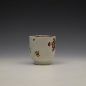 Liverpool John Pennington Floral Pattern Coffee Cup c1770 (2)
