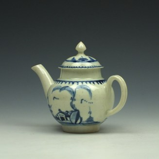 Liverpool John Pennington House Fence and Willow Pattern Toy Teapot c1775-85 (8)