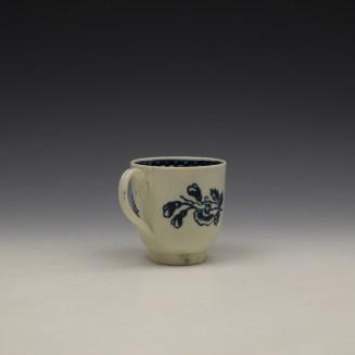Liverpool John Pennington Peony and Daisy Sprays Pattern Coffee Cup c1780-90 (4)