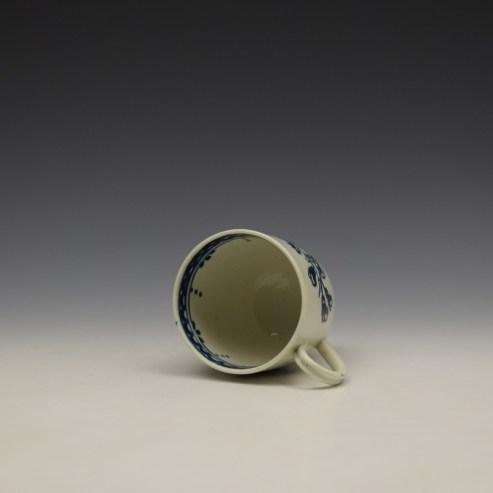 Liverpool John Pennington Peony and Daisy Sprays Pattern Coffee Cup c1780-90 (7)