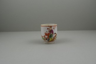 Lowestoft Porcelain Lady Seated Under a Tree Pattern Coffee cup, C1785-95. 2
