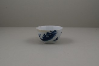 Worcester Porcelain Lanslip Pattern Teabowl and Saucer, C1755-60 (2)