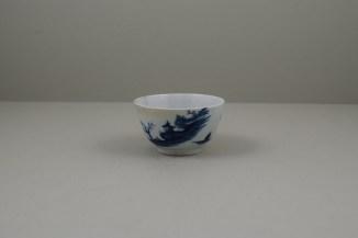 Worcester Porcelain Lanslip Pattern Teabowl and Saucer, C1755-60 (8)