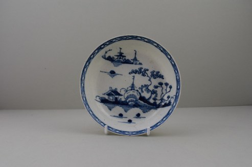 Liverpool Cannonball Pattern Saucer, C1770 (1)