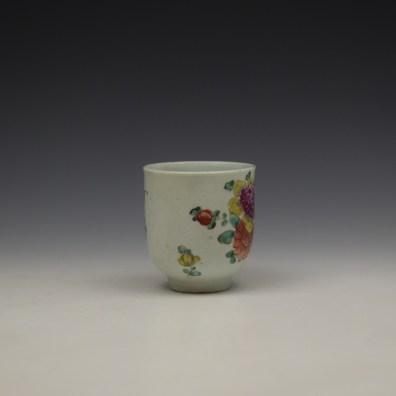 Liverpool John Pennington Floral Pattern Coffee Cup c1775-80 (2)