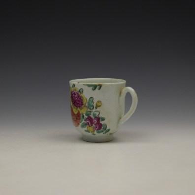 Liverpool John Pennington Floral Pattern Coffee Cup c1775-80 (6)