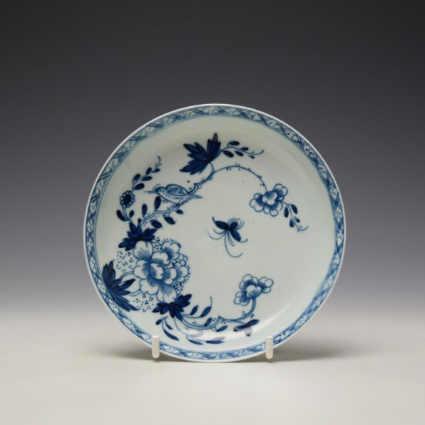 Liverpool Philip Christian Bird in Branches Pattern Teabowl and Saucer c1766-70 (10)