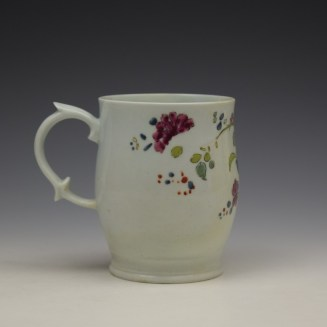 Longton Hall Fancy Bird and Rock Pattern Bell Shaped Mug c1755 Ex Watney Collection (5)