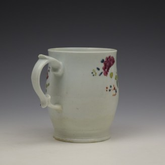 Longton Hall Fancy Bird and Rock Pattern Bell Shaped Mug c1755 Ex Watney Collection (6)