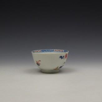 Lowestoft Green Redgrave Pattern Teabowl and Saucer c1775-85 (4)