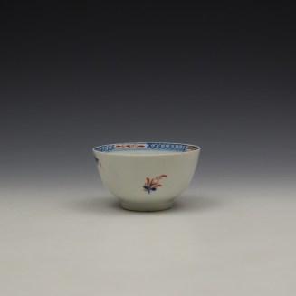 Lowestoft Green Redgrave Pattern Teabowl and Saucer c1775-85 (5)