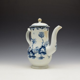 Lowestoft Two Storey Pagoda Pattern Coffee Pot and Cover c1765-70 (4)