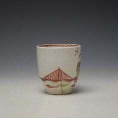 Lowestoft Mandarin Chinese Lovers Pattern Coffee Cup c1785-95 (2)