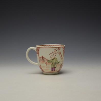 Lowestoft Mandarin Conversation Pattern Coffee Cup c1785-90 (3)