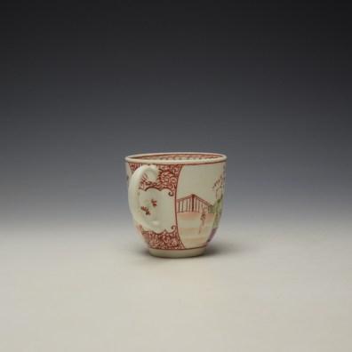 Lowestoft Mandarin Conversation Pattern Coffee Cup c1785-90 (4)