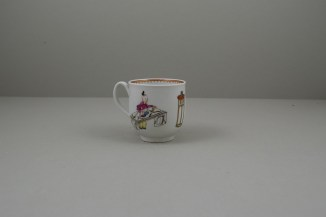 Worcester Porcelain Mandarin Dog and Butterfly Pattern Coffee Cup C1770 (4)