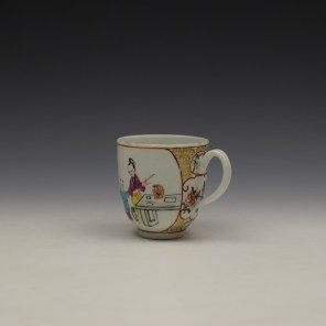 Worcester Mandarin Lady and vase Pattern Coffee Cup c1770-80 (5)