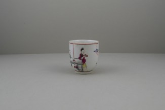 Worcester Porcelain Mother and Naughty Children Pattern Mandarin Coffee Cup, C1770 (3)
