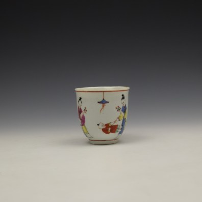 Worcester Mandarin Naughty Child Pattern Coffee Cup c1770-80 (2)
