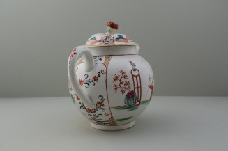 Worcester Mandarin Table for Tea Pattern Teapot and Cover. 6