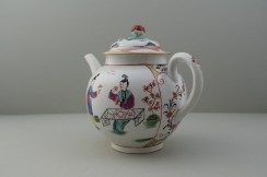Worcester Mandarin Table for Tea Pattern Teapot and Cover. 8