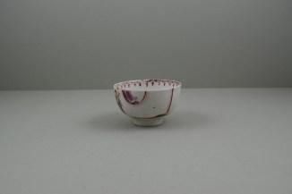 Lowestoft Porcelain Mandarin vase and Purple Curtains Pattern Teabowl and Saucer, C1780-85 (7)