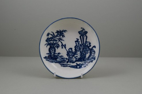 Caughley Porcelain Mother and Child and Bell Toy Patterns Teabowl and Saucer, C1776-90 (10)