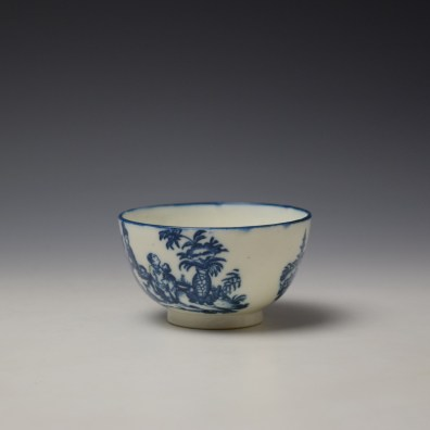 Caughley Mother and Child Pattern Teabowl and Saucer c1776-90 (4)