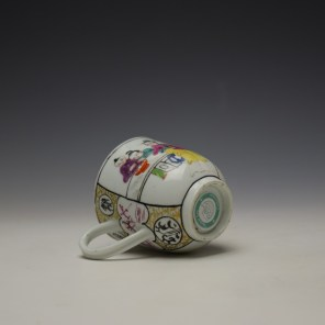 Worcester Mandarin Mother and Child Under a Tree Pattern Coffee Cup c1770-80 (7)