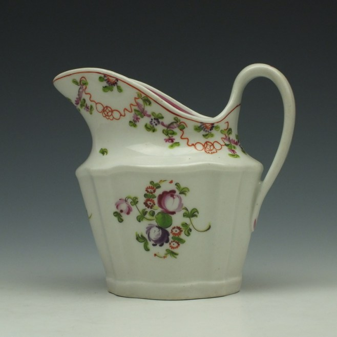 New Hall Pattern 195 Cream Jug c1790-1800 (1)