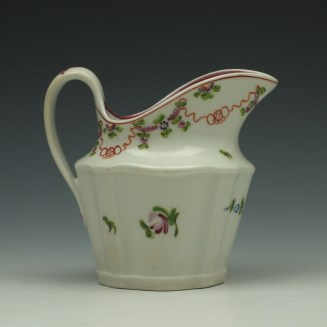 New Hall Pattern 195 Cream Jug c1790-1800 (4)