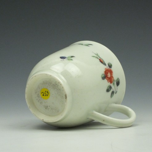 Worcester Porcelain Outside Decorated Floral Pattern Coffee Cup c1770 (15)