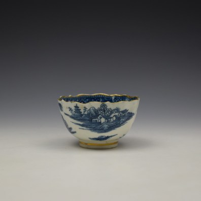 Caughley Pagoda Pattern Teabowl and Saucer c1782-92 (4)