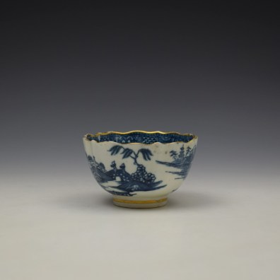 Caughley Pagoda Pattern Teabowl and Saucer c1782-92 (5)
