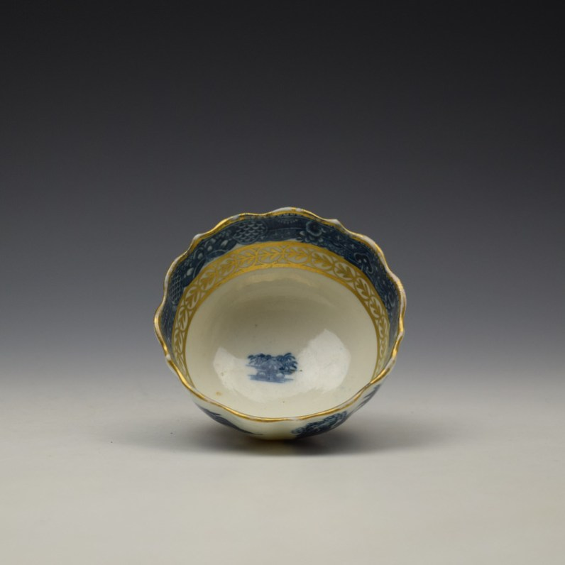 Caughley Pagoda Pattern Teabowl and Saucer c1782-92 (6)