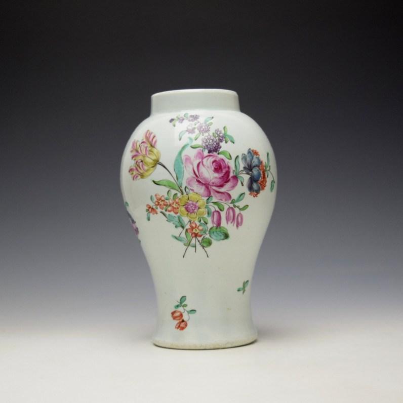 Liverpool Philip Christian Floral Pattern Vase c1765-70 (1)