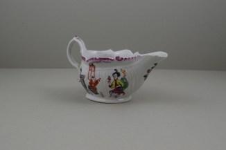 Liverpool Porcelain Philip Christian Mandarin Conjuror Pattern Creamboat, C1768-72 (4)