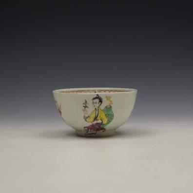 Liverpool Philip Christian Mandarin Conjurer Pattern Sugar Bowl, C1768-72 (3)