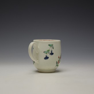 Liverpool Philip Christian Rose and Floral Sprays Pattern Coffee Cup and Saucer c1770 (5)