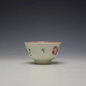 Liverpool Philip Christian Rose and Floral Sprays Pattern Teabowl and saucer c1770-75 (3)