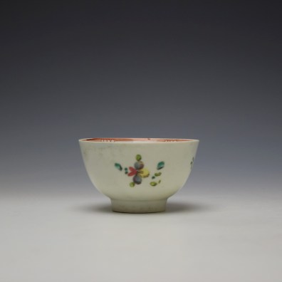 Liverpool Philip Christian Rose and Floral Sprays Pattern Teabowl and saucer c1770-75 (4)