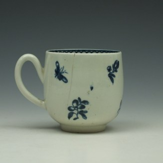 Liverpool Philip Christian Carnation Pattern Coffee Cup c1765-75 (3)
