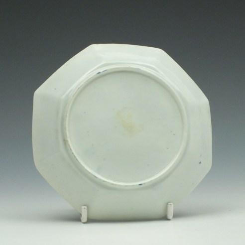 Worcester Porcelain Plantation Pattern Octagonal Saucer c1760 (1)
