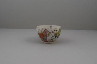 Worcester Porcelain Polychrome Dragon PatternTeabowl, Rare, C1780-90 (5)