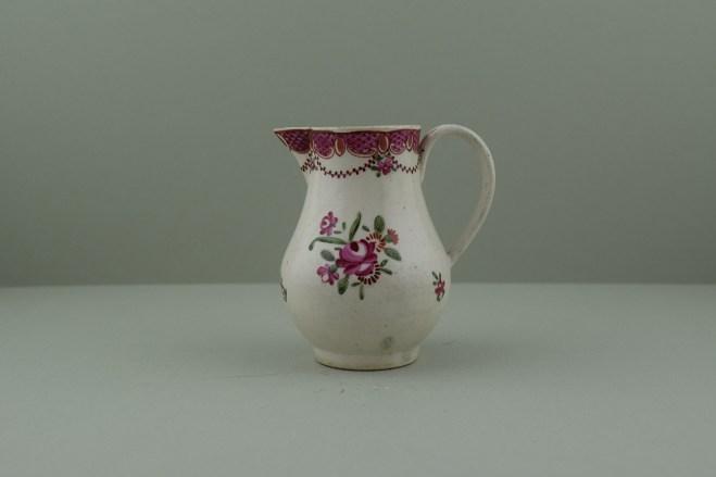 Liverpool Polychrome flower sprays pattern sparrow beak jug. a